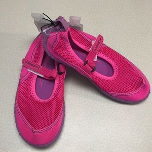 NWT Speedo Kids Pink Water Shoes-11/12